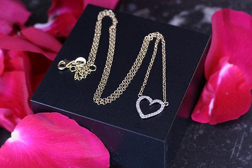 IRENE DANILOVICH - Diamond & Gold Heart Necklace