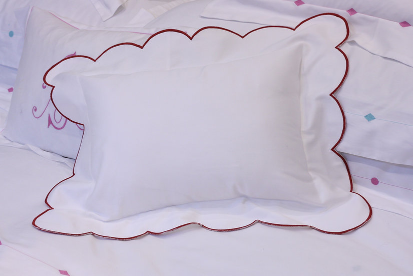 Baby Pillow - Ruby Red Scallop