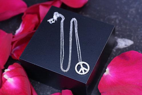 IRENE DANILOVICH - White Gold Peace Necklace