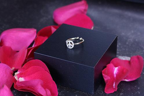 IRENE DANILOVICH - Diamond & Gold Peace Ring
