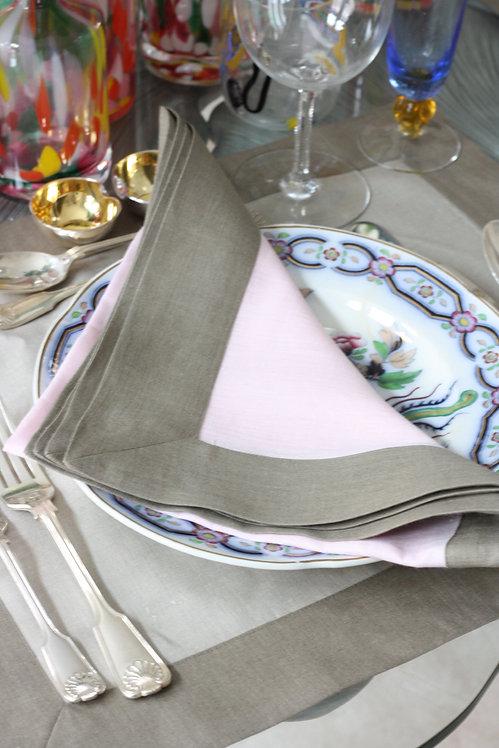 The Pimlico Collection - Eccleston Pink Napkin
