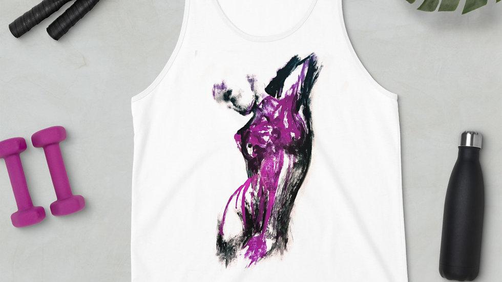 Stroke Piece #1 Art (white & purple) Tank Top