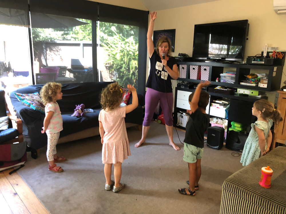 preschool music class learning to sing