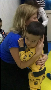 hugs are precious after class