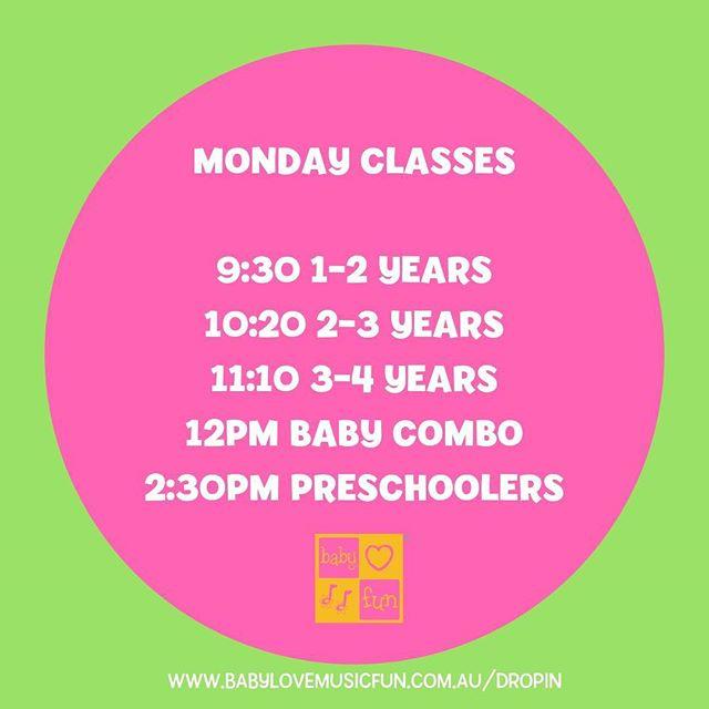 monday classes