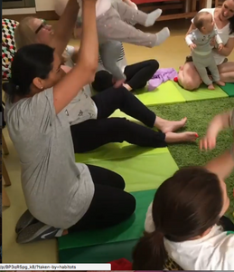 Parent interaction is encouraged and taught in BLMF baby music sessions