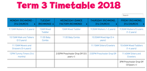 new timetable for term 3 2018