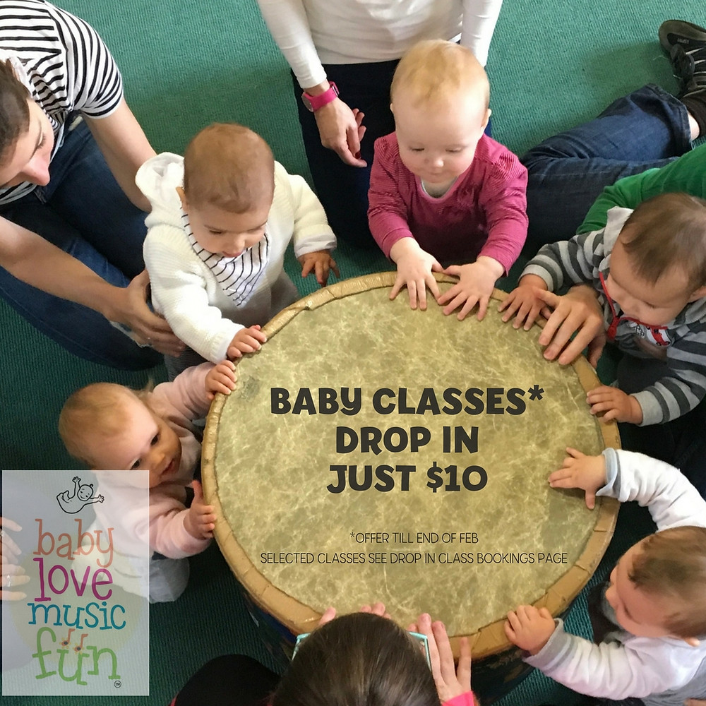 $10 Drop In Baby Music Classes in February