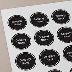 48mm Round Stickers.