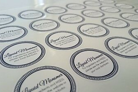 Printed 62mm Round Labels