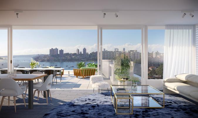 海港頂層公寓