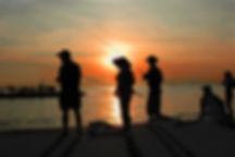 Dock Fishing at sunset-Naples