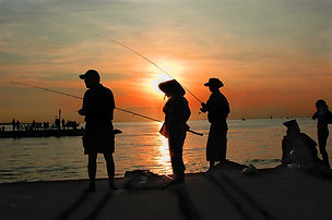 Dock Fishing at sunset-Naples