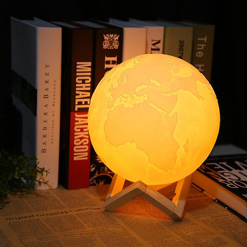 Wired Earth lamp, earth shaped night lamp, Home decor lamp,lamp for office