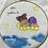 Thumbnail: Dipinto bimba su stelle su lino