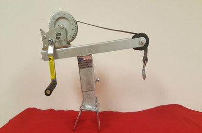 Heavy Duty Angled Winch Stand with 1400lbs Winch and Strap