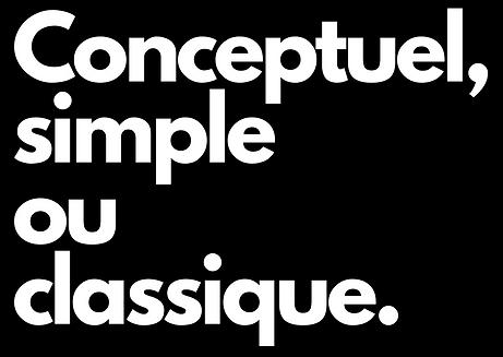 Conceptuel simple classique Tina Tisley