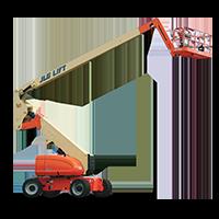 JLG 800AJ Articulating Boom Lift with Jib