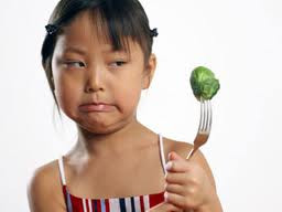 Girl refusing food