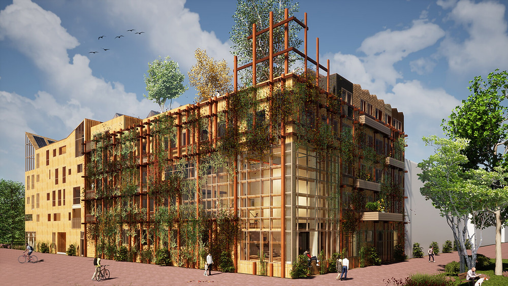 Wooncooperatie De Warren in Amsterdam. Afbeelding: C Natrufied Architecture
