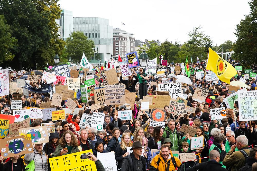 Vrijdag 27 sept. 2019 Klimaatstaking Den Haag, foto: Laura Ponchel