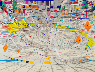 Julie Mehretu at the Whitney Museum, NYCMarch 25 through August 8, 2021