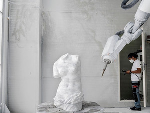 Sculpting with Robots: Robotor's Neoclassical Carrara Statues in Italy
