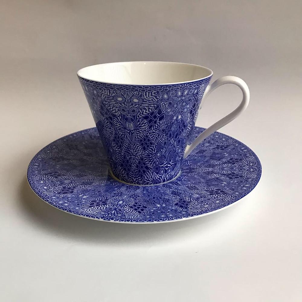 GEOMETRIC 兼用碗皿ブルー