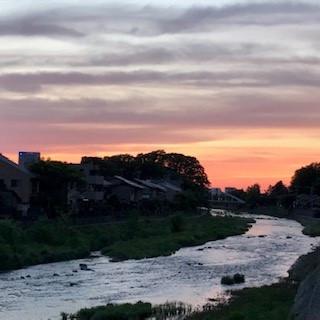 浅野川の夕景