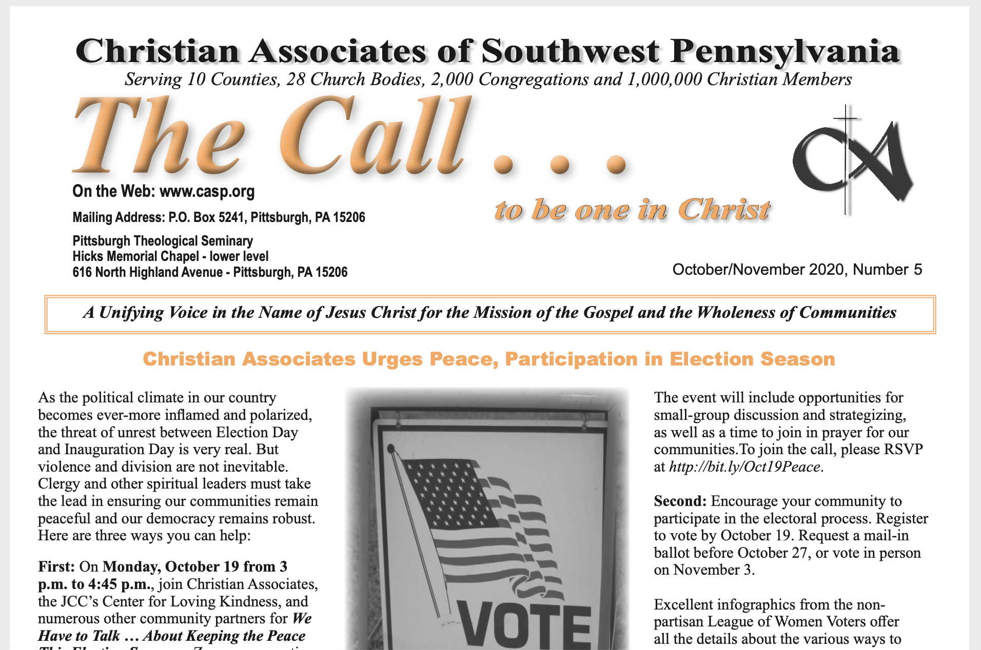 October 2020 Call Newsletter
