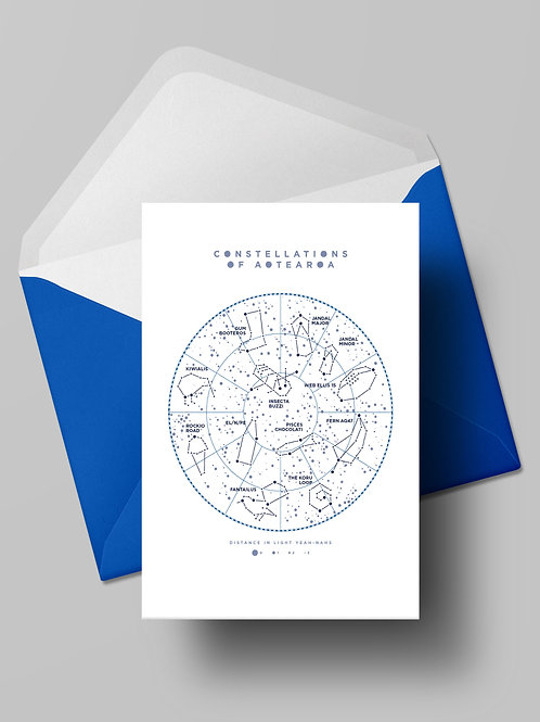 CONSTELLATIONS OF AOTEAROA CARD (wholesale)