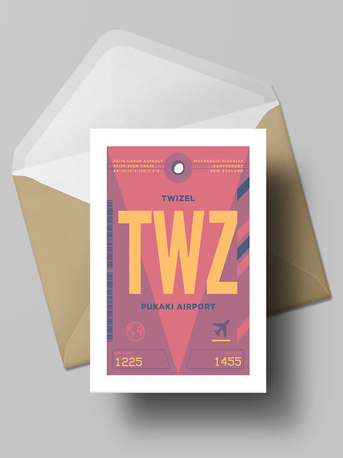 COME FLY WITH ME: TWZ CARD (wholesale)