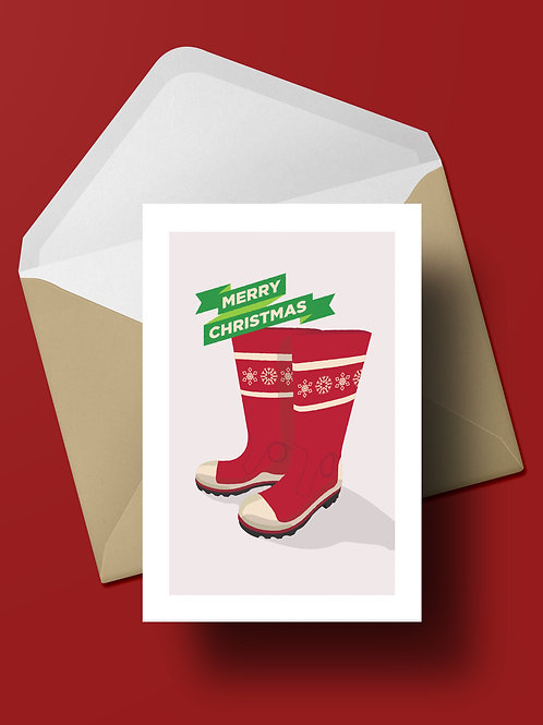 GUMBOOTS CHRISTMAS CARD (wholesale)