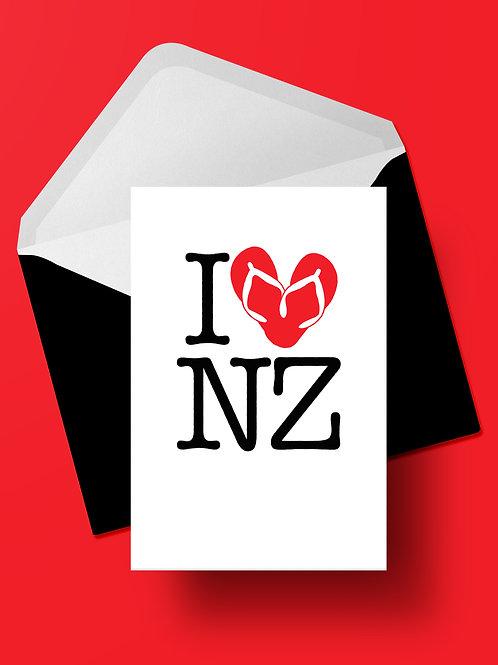 I HEART NZ CARD (wholesale)