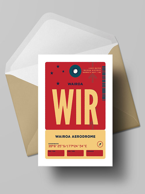 COME FLY WITH ME: WIR CARD (wholesale)