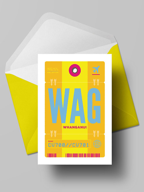 COME FLY WITH ME: WAG CARD (wholesale)