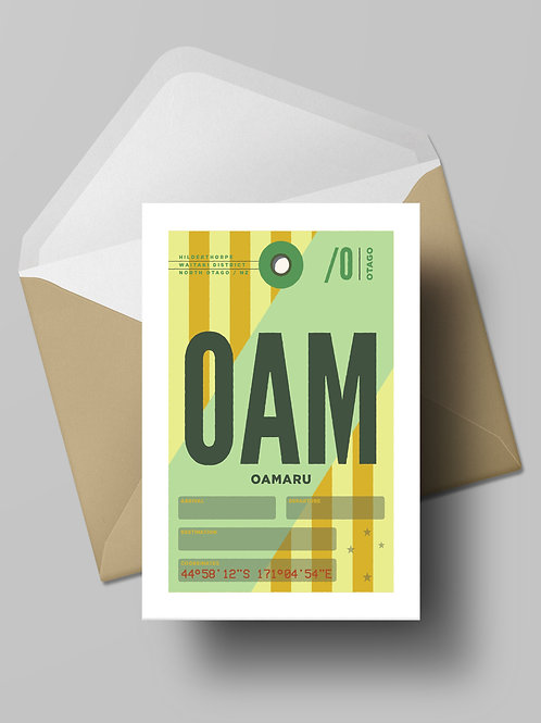 COME FLY WITH ME: OAM CARD (wholesale)