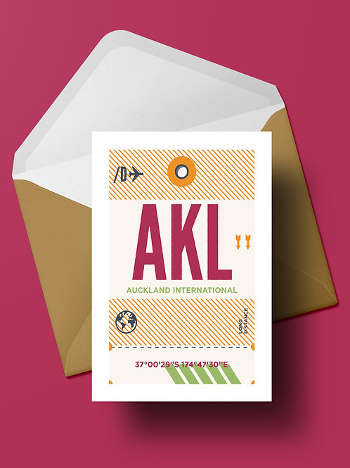 COME FLY WITH ME: AKL CARD (wholesale)
