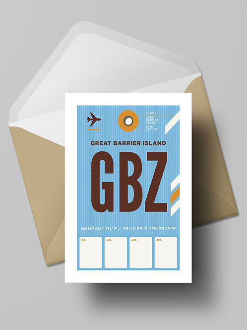 COME FLY WITH ME: GBZ CARD (wholesale)
