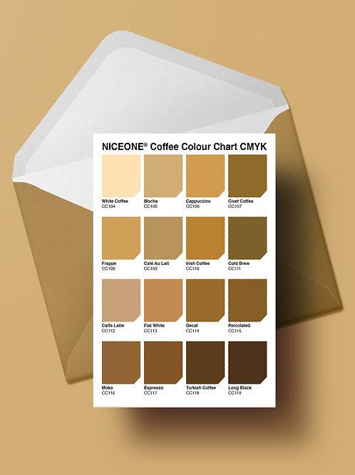 THE COLOUR OF CAFFEINE CARD (wholesale)