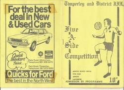 T&DJFL 5-a-side tournament 1978/79