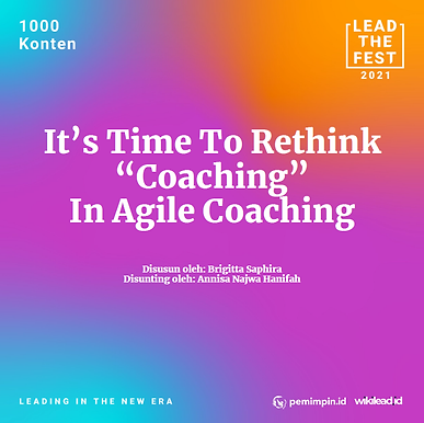 """It's Time To Rethink """"Coaching"""" in Agile Coaching"""
