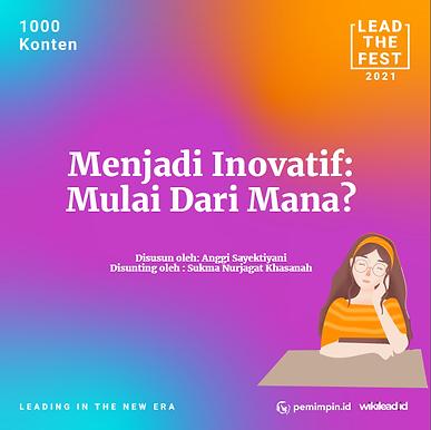 Menjadi Inovatif Mulai Dari Mana