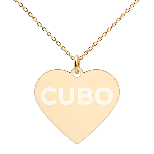 CUBO Brand Engraved Heart Necklace