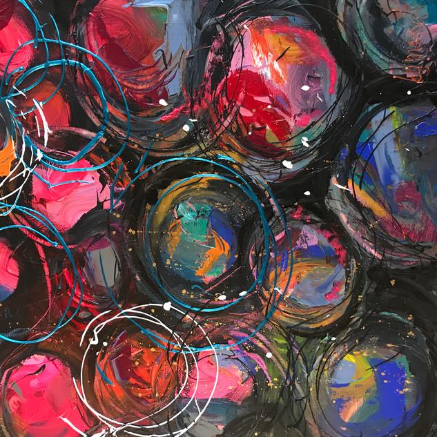 bubbels gekleurd