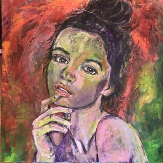 60x60 acryl portret