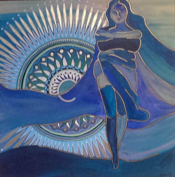 mandela blauw