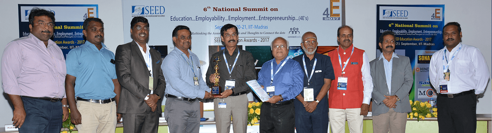 SEED Award on Best Department to Mechanical Engineering