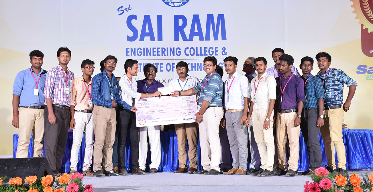 Rs.100000, Awarded for E-baja winners