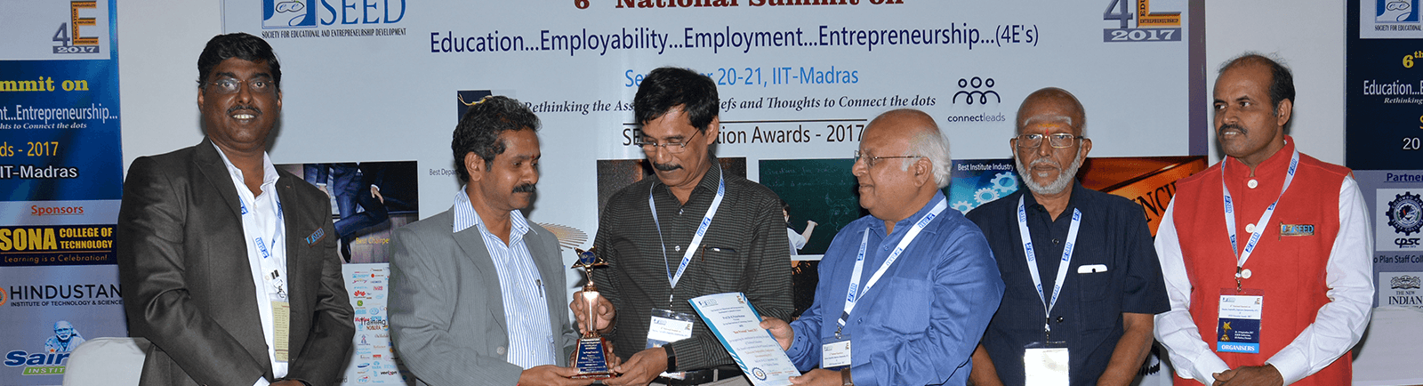 SEED Award on Best Principal for Dr.K.Palanikumar